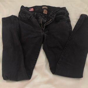 True Religion Black Hallie Skinny Jeans 24